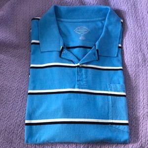 St. John's Bay Blue Men's Polo Shirt